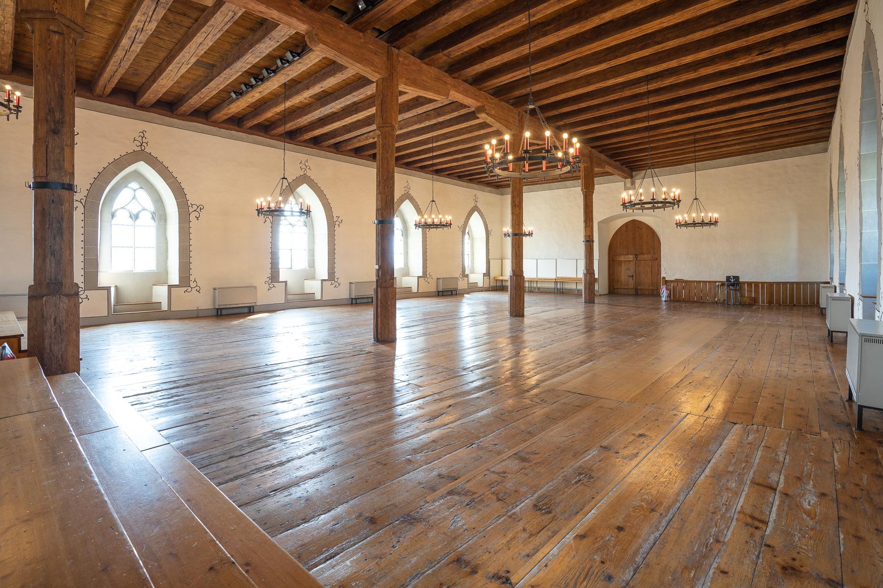 Grosser Rittersaal auf Schloss Lenzburg